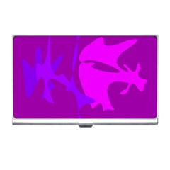 Purple, pink and magenta amoeba abstraction Business Card Holders