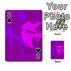Purple, pink and magenta amoeba abstraction Playing Cards 54 Designs