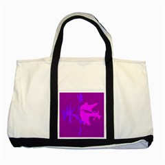Purple, pink and magenta amoeba abstraction Two Tone Tote Bag