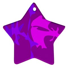 Purple, pink and magenta amoeba abstraction Star Ornament (Two Sides)