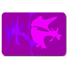 Purple, pink and magenta amoeba abstraction Large Doormat