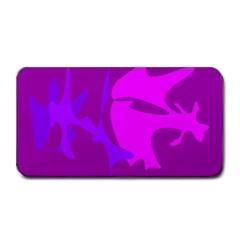 Purple, pink and magenta amoeba abstraction Medium Bar Mats