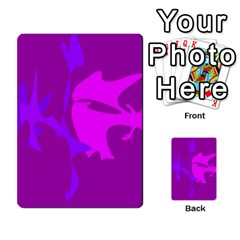 Purple, pink and magenta amoeba abstraction Multi-purpose Cards (Rectangle)