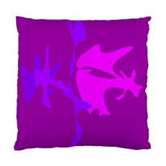 Purple, pink and magenta amoeba abstraction Standard Cushion Case (One Side)