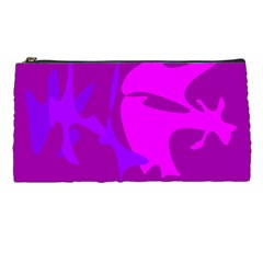 Purple, pink and magenta amoeba abstraction Pencil Cases