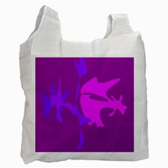 Purple, pink and magenta amoeba abstraction Recycle Bag (Two Side)