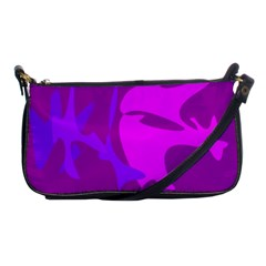 Purple, pink and magenta amoeba abstraction Shoulder Clutch Bags