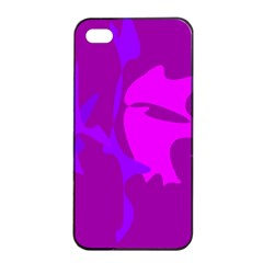 Purple, pink and magenta amoeba abstraction Apple iPhone 4/4s Seamless Case (Black)