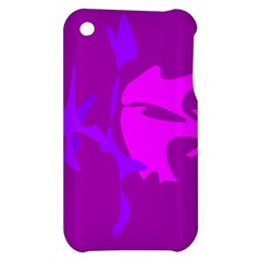 Purple, pink and magenta amoeba abstraction Apple iPhone 3G/3GS Hardshell Case