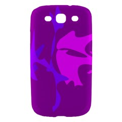 Purple, pink and magenta amoeba abstraction Samsung Galaxy S III Hardshell Case