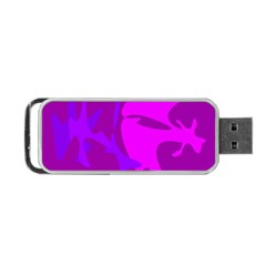 Purple, pink and magenta amoeba abstraction Portable USB Flash (Two Sides)
