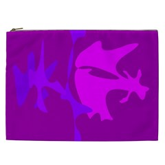 Purple, pink and magenta amoeba abstraction Cosmetic Bag (XXL)