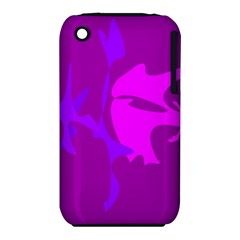 Purple, pink and magenta amoeba abstraction Apple iPhone 3G/3GS Hardshell Case (PC+Silicone)