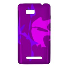Purple, pink and magenta amoeba abstraction HTC One SU T528W Hardshell Case