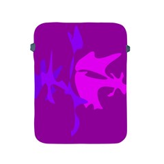 Purple, pink and magenta amoeba abstraction Apple iPad 2/3/4 Protective Soft Cases