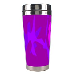 Purple, pink and magenta amoeba abstraction Stainless Steel Travel Tumblers