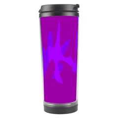Purple, pink and magenta amoeba abstraction Travel Tumbler
