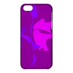 Purple, pink and magenta amoeba abstraction Apple iPhone 5C Hardshell Case