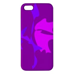Purple, pink and magenta amoeba abstraction iPhone 5S/ SE Premium Hardshell Case