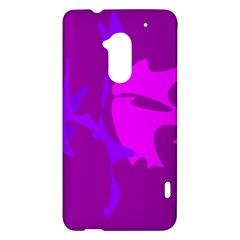 Purple, pink and magenta amoeba abstraction HTC One Max (T6) Hardshell Case