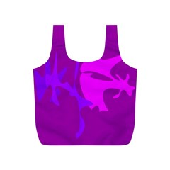 Purple, pink and magenta amoeba abstraction Full Print Recycle Bags (S)