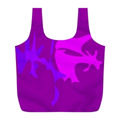 Purple, pink and magenta amoeba abstraction Full Print Recycle Bags (L)