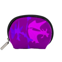 Purple, pink and magenta amoeba abstraction Accessory Pouches (Small)