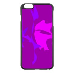 Purple, pink and magenta amoeba abstraction Apple iPhone 6 Plus/6S Plus Black Enamel Case