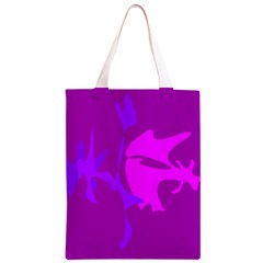 Purple, pink and magenta amoeba abstraction Classic Light Tote Bag