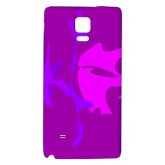 Purple, pink and magenta amoeba abstraction Galaxy Note 4 Back Case