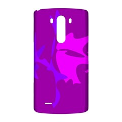 Purple, pink and magenta amoeba abstraction LG G3 Back Case