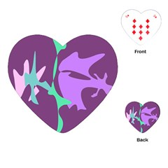 Purple amoeba abstraction Playing Cards (Heart)