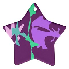 Purple amoeba abstraction Star Ornament (Two Sides)