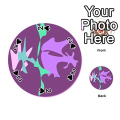 Purple amoeba abstraction Playing Cards 54 (Round)
