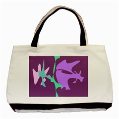 Purple amoeba abstraction Basic Tote Bag (Two Sides)