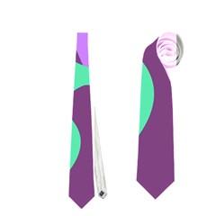Purple amoeba abstraction Neckties (One Side)