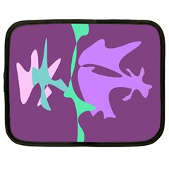Purple amoeba abstraction Netbook Case (Large)