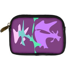 Purple amoeba abstraction Digital Camera Cases