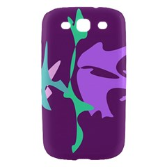Purple amoeba abstraction Samsung Galaxy S III Hardshell Case