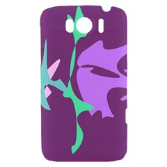 Purple amoeba abstraction HTC Sensation XL Hardshell Case