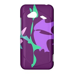 Purple amoeba abstraction HTC Droid Incredible 4G LTE Hardshell Case
