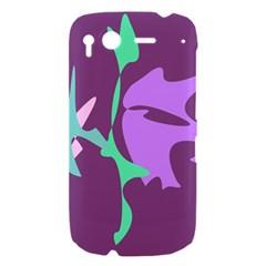 Purple amoeba abstraction HTC Desire S Hardshell Case