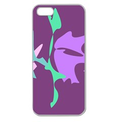 Purple amoeba abstraction Apple Seamless iPhone 5 Case (Clear)