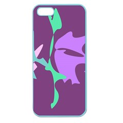 Purple amoeba abstraction Apple Seamless iPhone 5 Case (Color)
