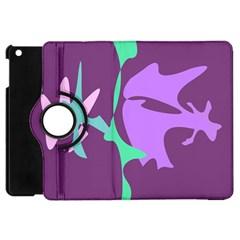 Purple amoeba abstraction Apple iPad Mini Flip 360 Case