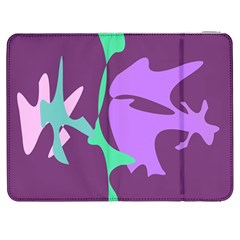 Purple amoeba abstraction Samsung Galaxy Tab 7  P1000 Flip Case
