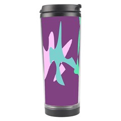 Purple amoeba abstraction Travel Tumbler