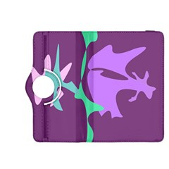 Purple amoeba abstraction Kindle Fire HDX 8.9  Flip 360 Case