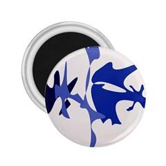 Blue amoeba abstract 2.25  Magnets