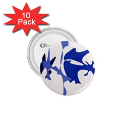 Blue amoeba abstract 1.75  Buttons (10 pack)